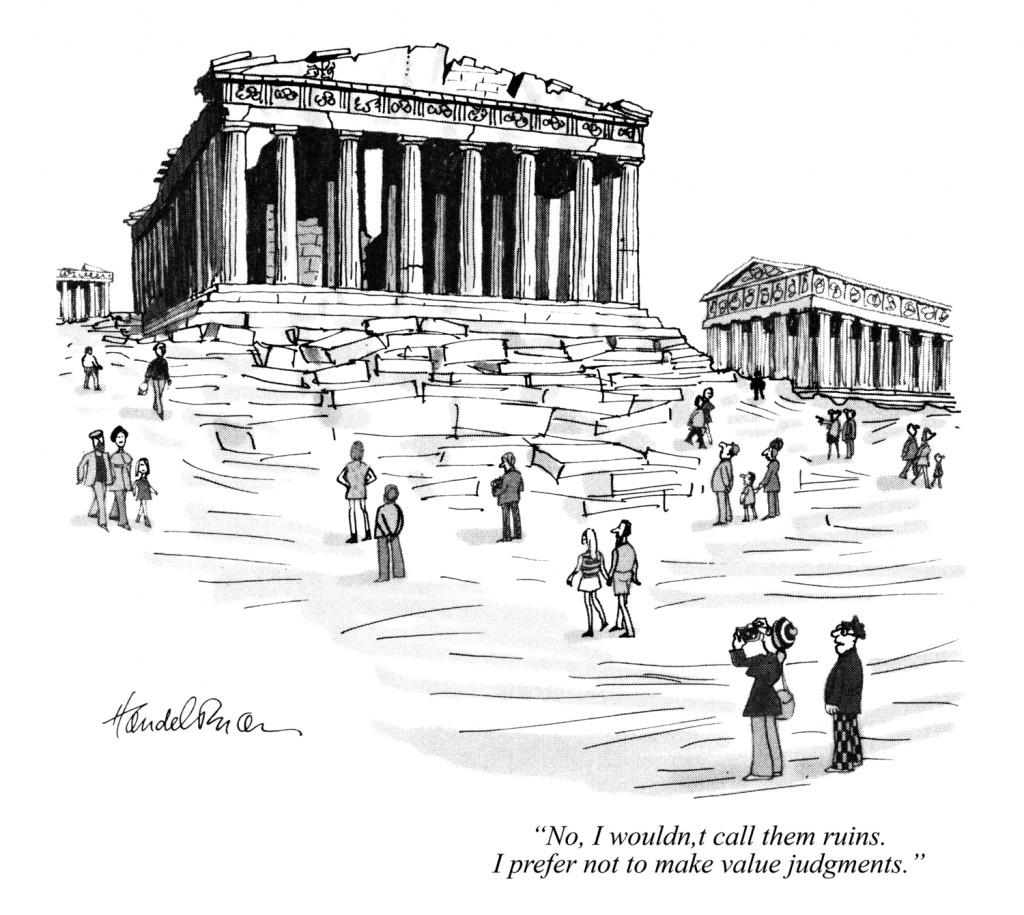Ruins cartoon by Bud Handelsman