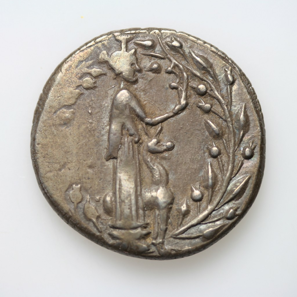Figure 2. Silver coin of Leukas (167-100 BC) @ Ashmolean Museum, Oxford