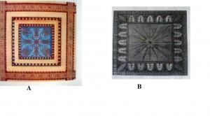 Figure 5. A. Parthenon, lacunar. B. Hephaisteion, lacunar.