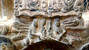 Plate 13: Feitian, flying celestial figures holding palmettes